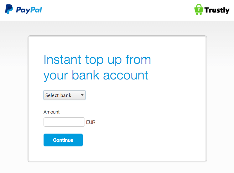 Paypal-instant-top-up-trustly